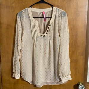 Plenty By Tracy Reese Champagne Gold Top Sz XS